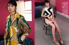The Luping Wang Vogue Taiwan Shoot Plays with Patterns