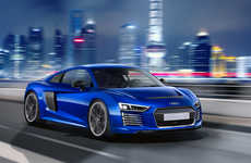 Autonomous Sports Cars - The Audi R8 E-Tron Technical Concept is Electrically-Powered