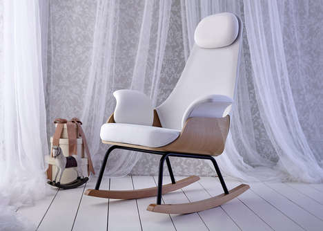 Maternal Rocking Chairs - A Spanish Design Firm Has Crafted the Perfect Breastfeeding Chair