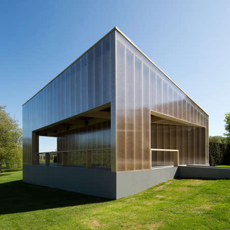 Cubic Art Galleries - This Temporary Building is an Outdoor Summer Pavilion & Indoor Art Gallery