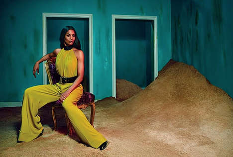 Couture Songstress Campaigns - The Ciara Roberto Cavalli Ad Draws Inspiration From the 70s