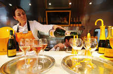 Mobile Champagne Bars - Veuve Clicquot's Pop-Up Bar Concept Offers Luxury On the Go