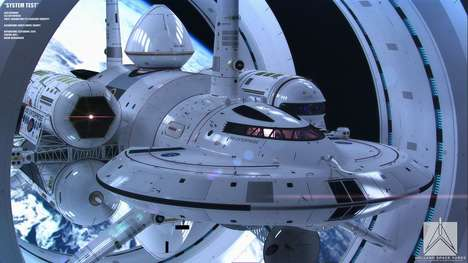 Vanguard Spaceship Concepts - NASA's IXS Enterprise Model is Conceived by Artist Mark Rademaker