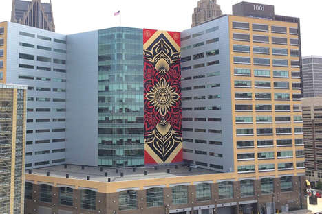 Towering City Murals - The Shepard Fairey Detroit Mural is the Graffiti Artist's Largest to Date