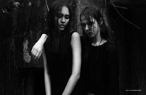 Dramatic Forest Editorials - Design Scene's Trois Story Highlights a Wardrobe of Grunge Clothing