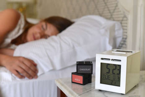 Scent-Based Alarm Clocks - SensorWake is the First Alarm Clock to Substitute Sound for Smell