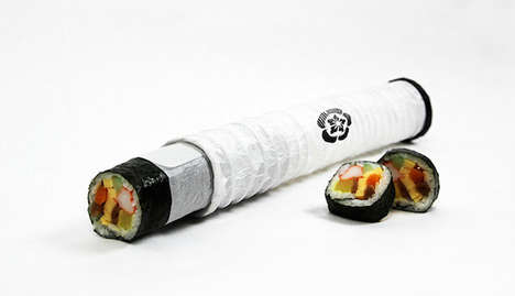 Collapsible Sushi Packaging - Artist Jordan Hau Creates Holders Inspired by Japanese Lanterns