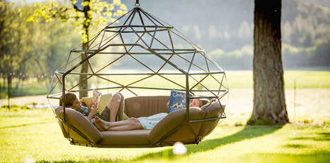 Geometric Suspended Seats - The Kodama Zome by Richie Duncan is Like a Spacious, Artistic Hammock