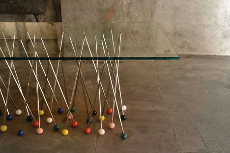 Pushpin-Inspired Furniture - This Design Concept Incorporates Oversized Pushpins into Decor