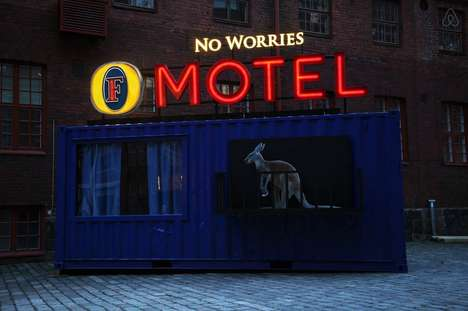 Branded Festival Pop-Up Motels - Fosters and Airbnb Created a Pop-up Motel at Finland's Provinssi