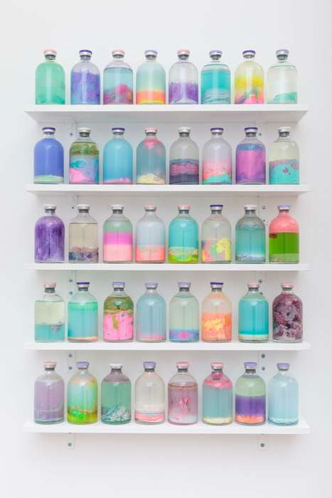 Pastel Blob Art - Louise Zhang's Slosh Samples are Vials Filled with Colorfully Congealed Fluids
