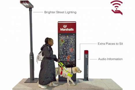 Responsive City Fixtures - Marshalls Envisions Smart Street Furniture with IoT to Aid the Disabled