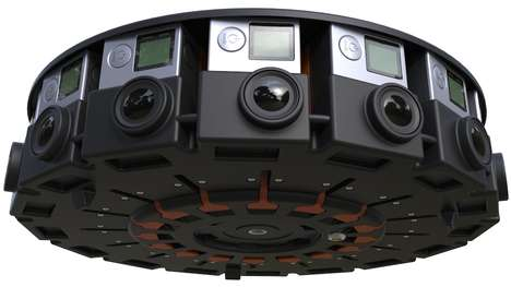 3D Super Cameras - The GoPro 360 Degree Camera Array Shoots 3D Footage Using 16 Cameras