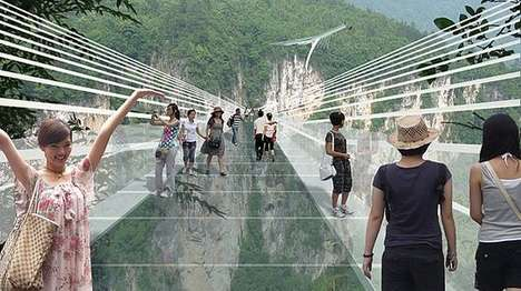 Heart-Stopping Glass Bridges - The World's Longest Glass Bridge Will Be Situated In China