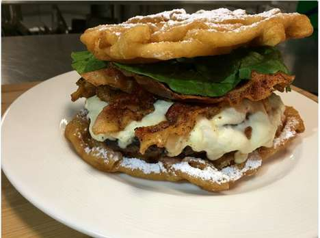 Funnel Cake Cheeseburgers - The Big Mother Funnel Burger is Coming to a Ballpark Near You
