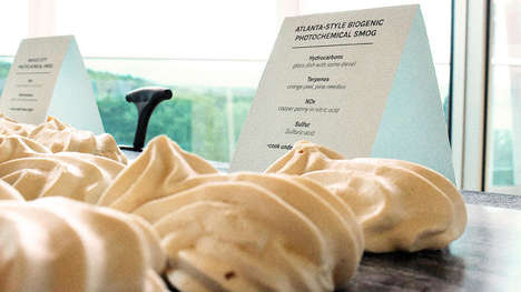 Urban Air Pollution Desserts - Aeroir is a Meringue Made from Four Different Cities' Re-Created Smog