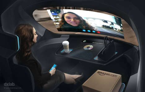 Multimedia Autonomobiles - This Concept for a Connected Car Integrates Your Netflix, Skype and More