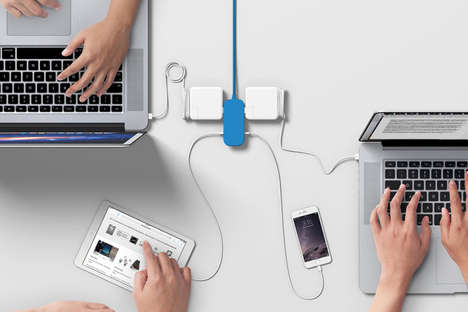 Minimalist Extension Cords - The Bluelounge Portiko Power Bar Introduces a Stylish Alternative
