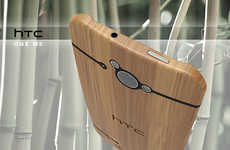 The HTC Go Green Comes with a Back Made from Renewable Woody Grass