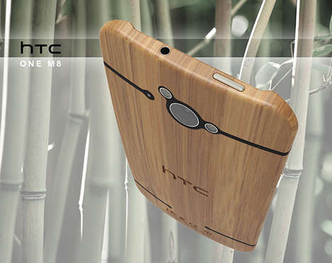 Beautiful Bamboo Smartphones - The HTC Go Green Comes with a Back Made from Renewable Woody Grass
