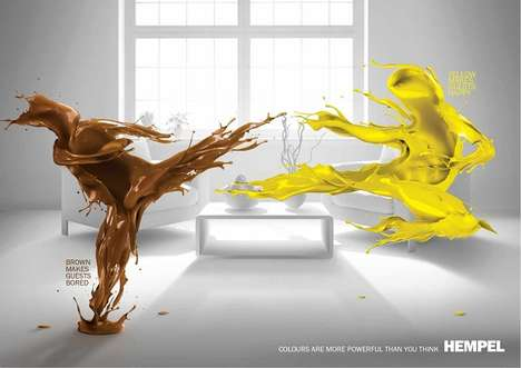 Color-Clashing Paint Ads - Battling Paint People Ads Reveal Colors That Do Not Complement Each Other