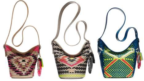 Vibrant Festival Accessories - Coach's Tribal Collection Features Bold Festival Fashion