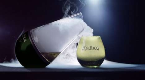 Drinkable Whiskey Clouds - The Ardbeg Haar Carafe Mimics the Coastal Mists of Scotlands