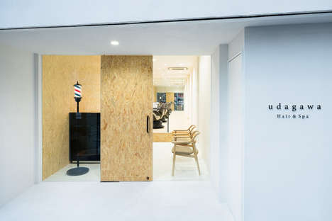 Austere Barber Shop Interiors - This Tokyo Barber Shop Boasts a Minimalist Pared Down Interior