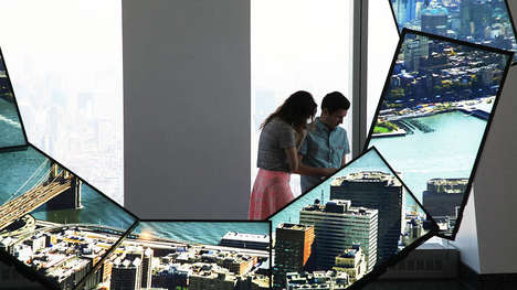 City Story Installations - The One World Observatory is Home to a Gesture-Controlled Ring of Screens