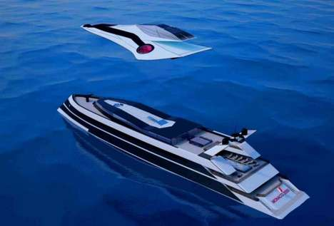 Flying Yacht Hybrids - The Monaco 2050 Brings Avian Qualities to the Sea