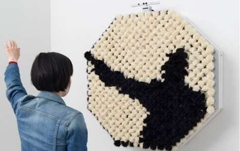 Fanciful Furry Reflectors - The PomPom Mirror Reproduces Images with Soft Black and White Materials