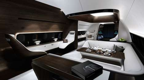 Opulent Aircraft Cabins - Mercedes and Lufthansa are Partnering to Create Luxury Aircraft Cabins