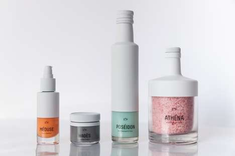 Dipped Pastel Packaging - The Pretty Branding Scheme for SOP Accents Bottles with White Tops