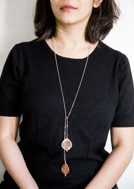 Metal Crochet Necklaces - The Loops Line by Riddhi Sheth Uses Knotting for Handmade Crochet Jewelry