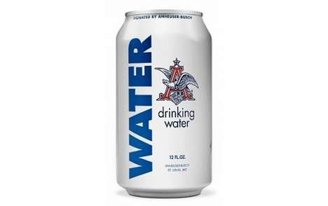 Relief Water Cans - Anheuser-Busch is Producing Canned Drinking Water for Flood Victims