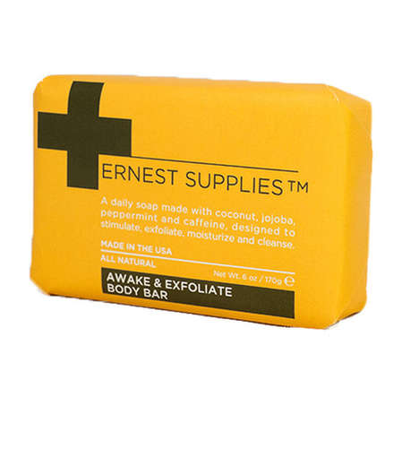 Caffeinated Men's Soaps - This Exfoliating Body Bar from Ernest Supplies Includes Caffeine