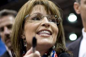 Sarah Palin in Democrat Scarf