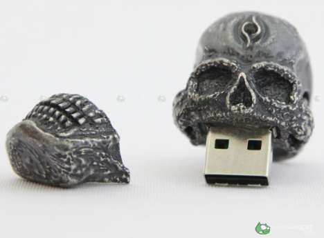 Macabre USB Jewelry - Memory Skull Rings
