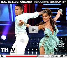 Bizarre Election Mania - Obama and Sarah Palin Dancing With the Stars, Baby Halloween Costume Ideas