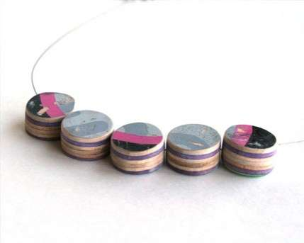 Eco Jewelry Made from Skateboards