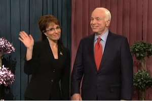 John McCain on SNL with Tina Fey as Sarah Palin