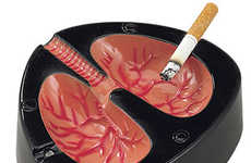 Anti-Smoking Gimmicks - Coughing Lung Ashtray