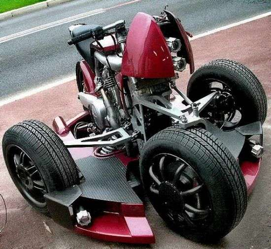 Four-Wheeled Motorcycles