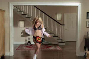 Heidi Klum in Her Underwear in 'Guitar Hero' Ad