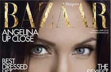 Extreme Close-Up Covers - Angelina Jolie on British Harper's Bazaar