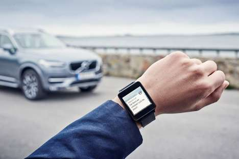 Wearable Auto Apps - The Volvo On Call App Works With Android Wear and Apple Watch