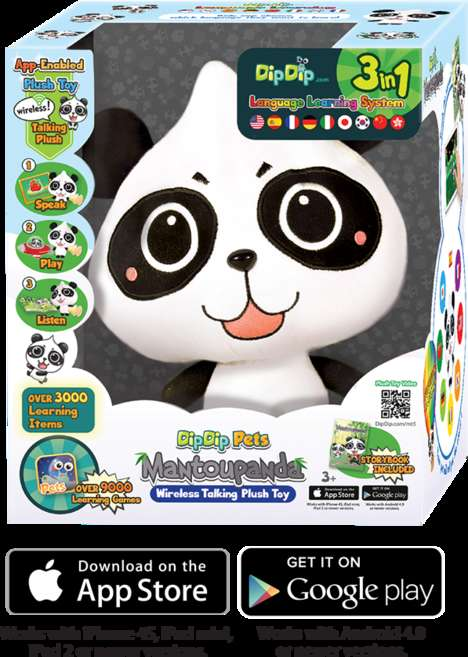 Multilingual Teaching Toys - 'DipDip' is a Plush Panda Capable of Teaching Nine Different Languages