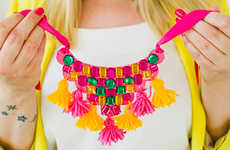 Mexican Necklace DIYs - Bespoke Bride's Handmade Jewelry Piece Boasts Eye-Catching Hues