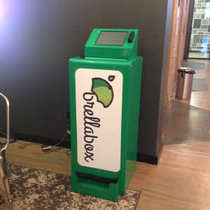 Umbrella Vending Machines - 'brellaBox is the World's First Rental Service for Sharing Umbrellas