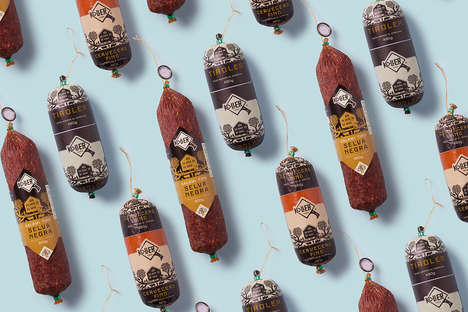 Rustic Deli Branding - Koller's Meat Packages Include Salamis, Sausages and Uncooked Varieties